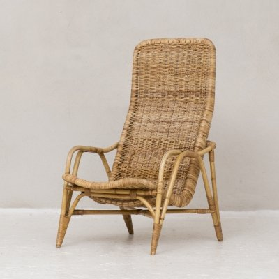 Dutch Easy chair in rotan, 1960s