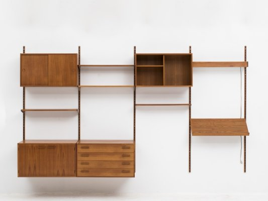 4-piece wall unit by Kai Kristiansen for Feldballes Mobelfabrik, 1960s