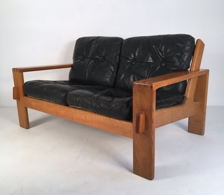 'Bonanza' Leather Sofa by Esko Pajamies for Asko, c.1960