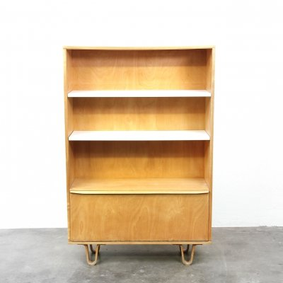 Pastoe BB03 Birch series Bookcase with loop legs by Cees Braakman, 1960s