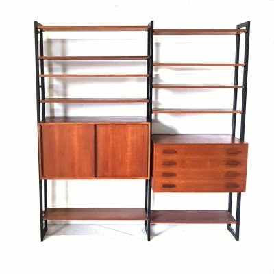 Freestanding wall unit by Ollie Borg for Asko Finland, 1960s
