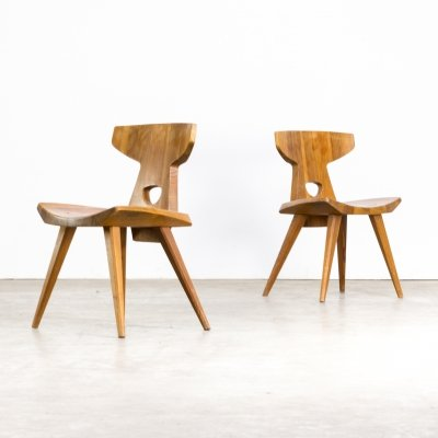 Pair of Jacob Kielland-Brandt dining chairs for I. Christiansen, 1960s