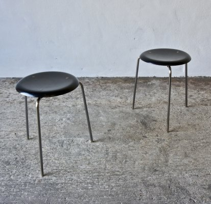 Pair Of Fritz Hansen 3170 Dot Stools by Arne Jacobsen