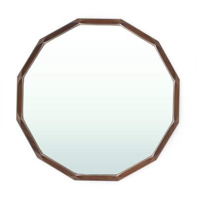 Mid-century dodecahedral frame mirror by Tredici, 1950s