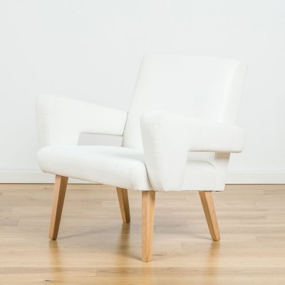 White velvet armchair from Jitona NP, 60's