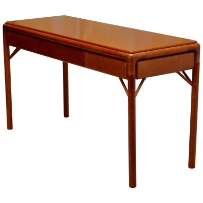 Mid-Century Teak Console Table or Desk, Sweden 1950s