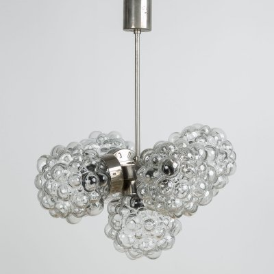 Bubble glass chandelier by Kamenický Šenov, 1970s