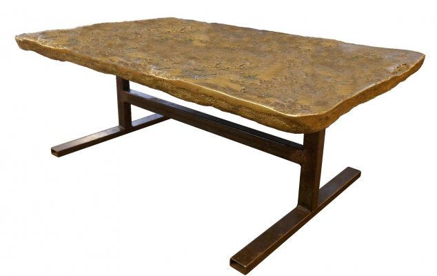 Gilded Bronze Top Coffee Table