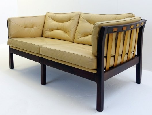 Two Seater Sofa With Leather Straps, 1960s