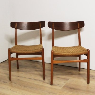 2 x CH23 dining chair by Hans Wegner for Carl Hansen & Son, 1950s