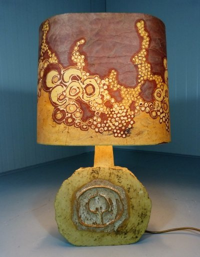 Large pottery table lamp by Atelier Marianne Koplin Berlin, Germany 1960s