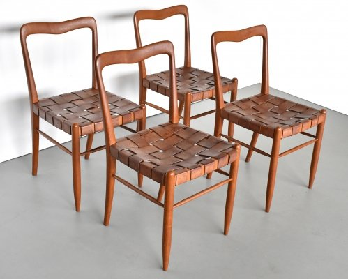 Set of 4 Guglielmo Ulrich dining chairs, 1940s