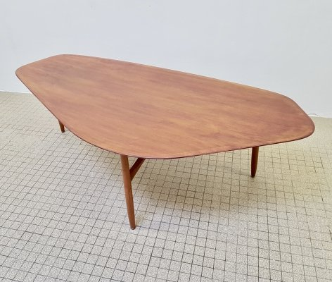 Large organic midcentury design coffee table by Laauser, 1960s