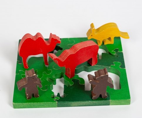 Plywood puzzle by Antonio Vitali for Ravensburger