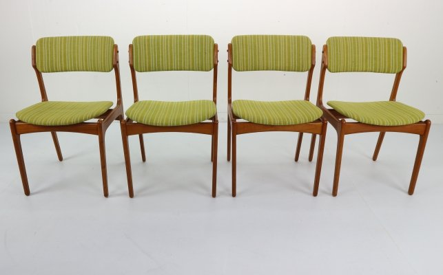 Set of 4 Erik Buch 'Model 49' Teak Dining Chairs for Odense Maskinsnedkeri, 1960s