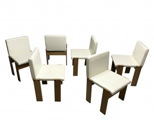 Set of 6 Tobia & Afra Scarpa for Molteni 'Monk' chairs, 1970s