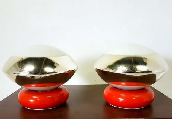 Space age bed light by Targetti Sankey, Italy 1970s