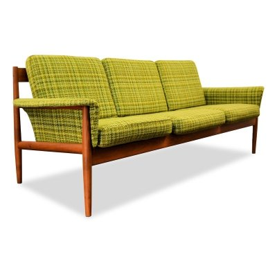 Vintage Danish design Grete Jalk teak 3-seating sofa