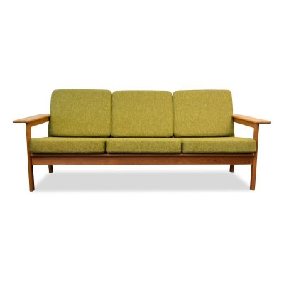 Vintage Børge Jensen & Sonner oak 3-seating sofa