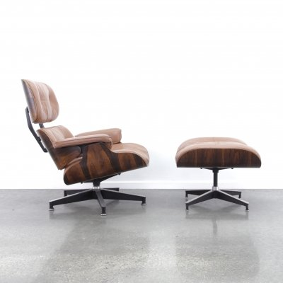Eames lounge chair + ottoman by Herman Miller, 1970s