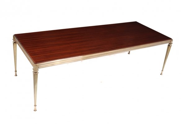 Mid Century Rosewood & Brass Coffee Table c1960
