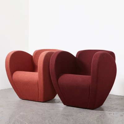 Ron Arad Pair of Size Ten Easy Chairs for Moroso, 1994