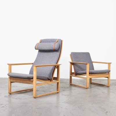 Borge Mogensen Model 2254 + 2256 Lounge Chairs for Fredericia, 1950s