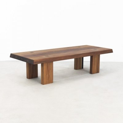 Pierre Chapo elm wood 'model T08' coffee table, 1965