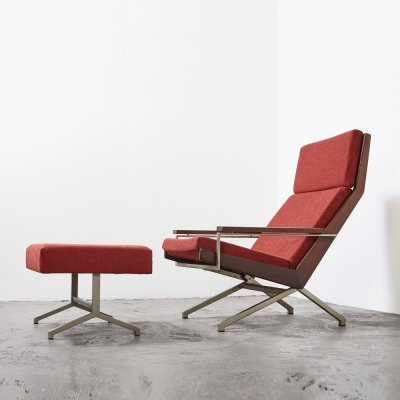 Rob Parry Lounge Chair + Ottoman for Gelderland, 1960s