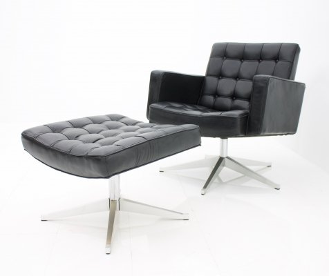 Lounge Chair & Stool by Vincent Cafiero for Knoll International