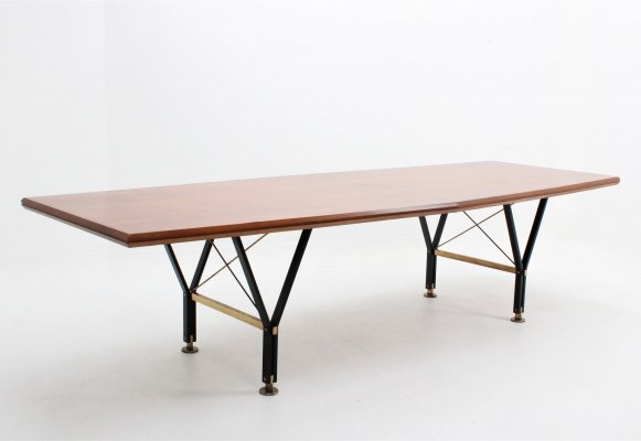 Occasional mid century italian design conference table, 1950s