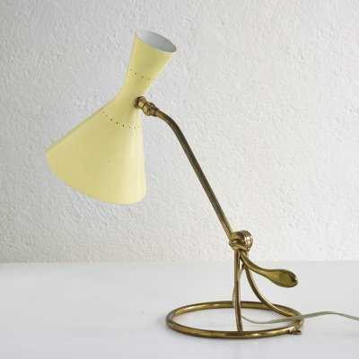 Swiss counterweight table lamp by Baumann Kölliker