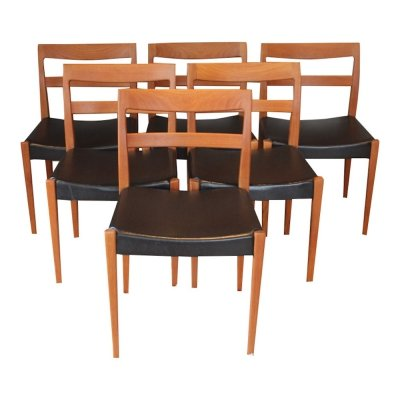 Set of 6 vintage scandinavian teak chairs by Nils Jonsson for Troeds, 1960s
