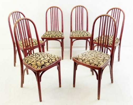 Set of 6 Josef Hoffmann dining chairs, 1960s