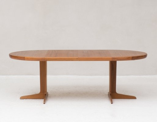 Round to oval extendable dining table by Spottrup, Denmark circa 1960