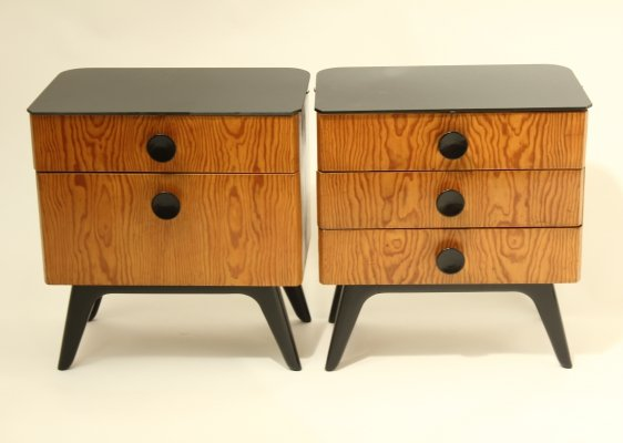 Pair of Bedside tables by Jindřich Halabala for UP Závody