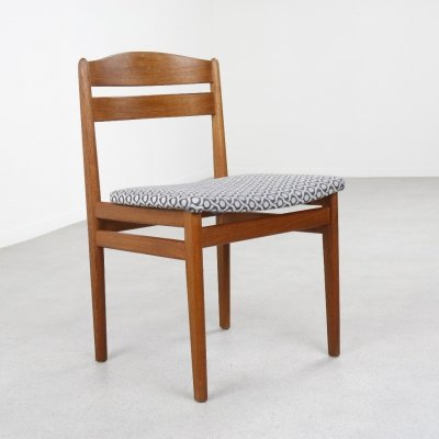 Solid teak dining chair, Denmark 1960s