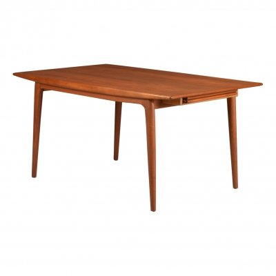 Alfred Christensen 'Boomerang' extendable teak dining table