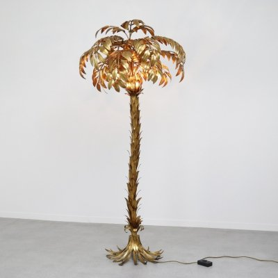 Large palm tree floor lamp by Hans Kögl, Germany 1960s