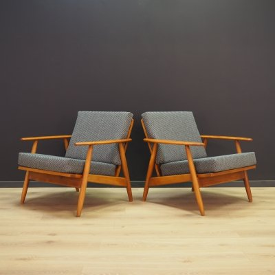 Pair of Danish armchairs, 1970s