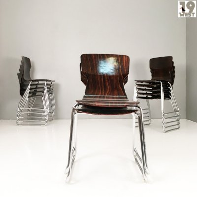 Obo Formsitz stacking chairs by Casala, 1970s