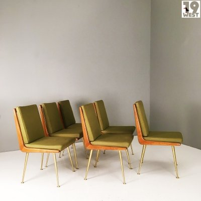 Six rare modernist dining chairs by Hans Mitzlaff & Albrecht Lange for ES Soloform, 1950s