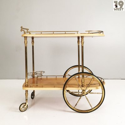 Italian bar cart from the 1970's by Aldo Tura