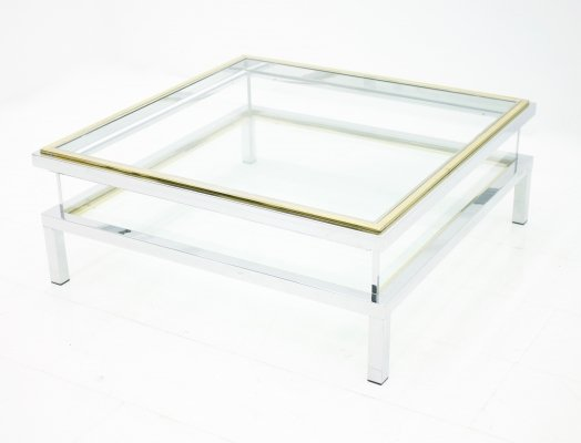 Maison Jansen Coffee Table with Sliding Top, France 1970s