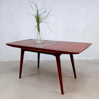 Vintage extendable dining table by Louis van Teeffelen for Webe