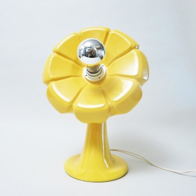 Yellow flower floor lamp by Enzo Bioli for Il Picchio, 1960s