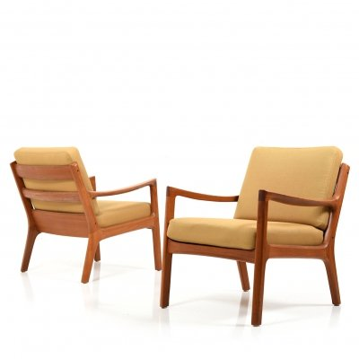 Pair of Teak 'Senator' Easychairs by Ole Wanscher