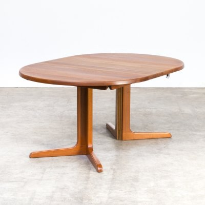 60's Niels Bach extendable dinner table for Niels Bach a/s