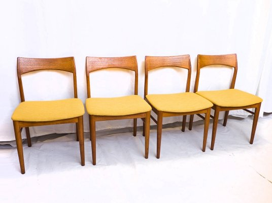 Set of 4 Dining Chairs by H. Kjaernulf for Vejle