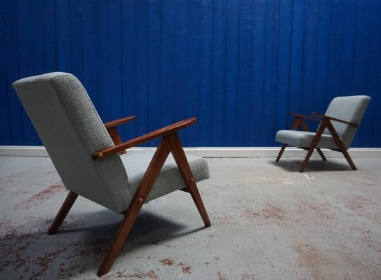 Pair of Mid Century Modern Easy Chairs from 1960s
